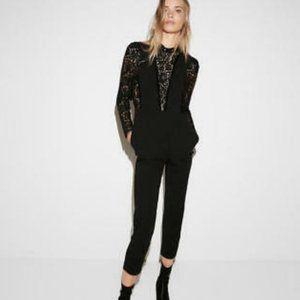 Express Black Lace High Neck Jumpsuit Size 4
